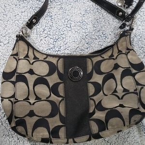 Large Coach Boho Purse